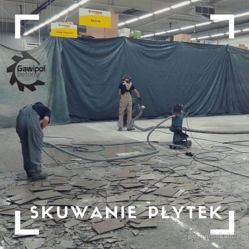 Skuwanie płytek, frezowanie kleju po płytkach Poznań